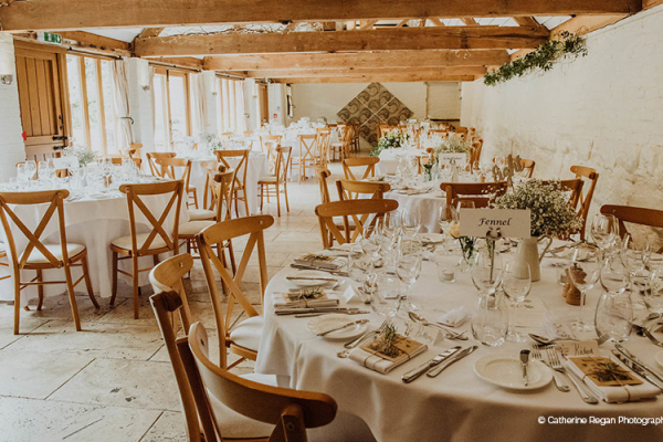 Wedding Breakfast at Curradine Barns | Wedding Venues Worcestershire