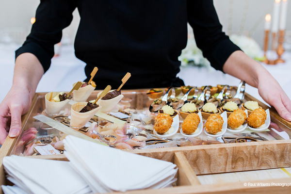 Treat guests to delectable wedding canapes from our expert wedding caterers Galloping Gourmet