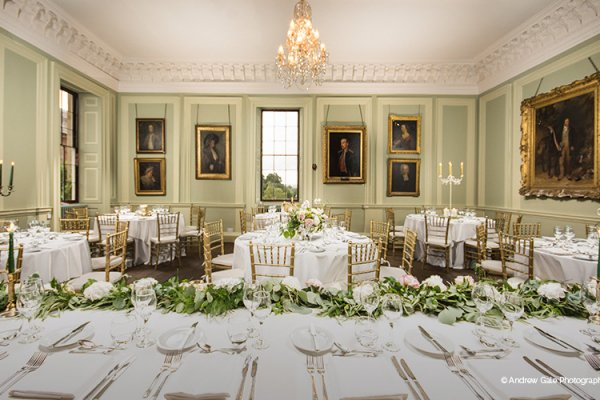 Dine in the elegant Drawing Room at this beautiful Shropshire wedding venue