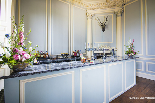 The bar at Davenport House country house wedding venue in Shropshire | CHWV