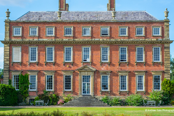 The front of the house at Davenport House country house wedding venue in Shropshire | CHWV