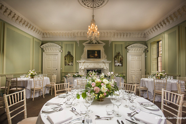 The Drawing Room provides a truly exquisite setting for your wedding meal at Davenport House wedding venues in Shropshire