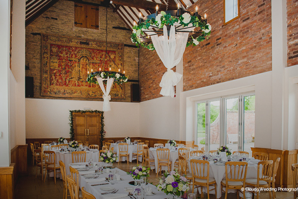 Delbury Hall Set Up For A Wedding Reception