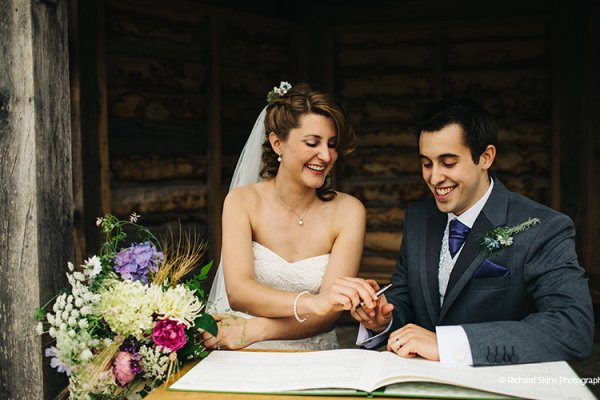 Signing the register at Delbury Hall wedding venue in Shropshire | CHWV