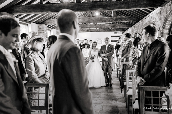 A wedding ceremony at Dodmoor House