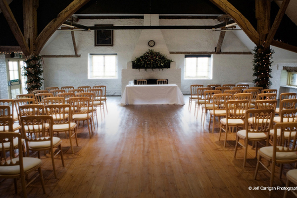 Dorset House set up for a wedding ceremony