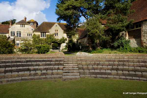 The amazing Amphitheatre at Dorset House wedding venue