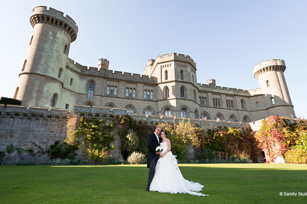 The Lower Terrace at Eastnor Castle wedding venue in Herefordshire | CHWV