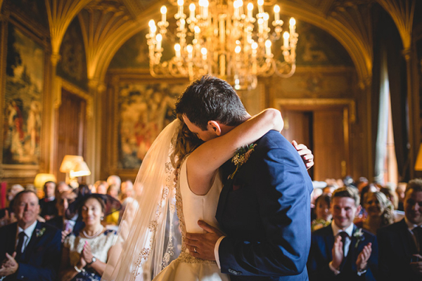 Just married at Eastnor Castle wedding venue in Herefordshire | CHWV