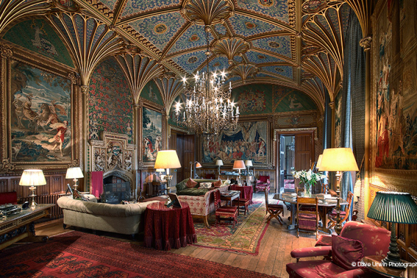 A chill out area for guests at Eastnor Castle wedding venue in Herefordshire | CHWV