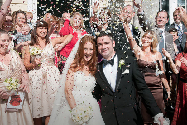 Confetti shot at Fontwell Park