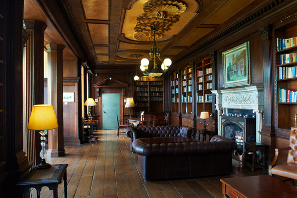 The Library at Gosfield Hall in Essex