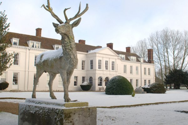 Gosfield Hall wedding venue in Essex in the snow
