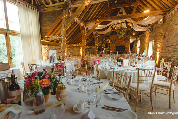 Rustic Barn Wedding Venue In West Sussex