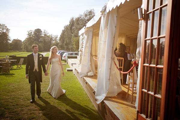 Newlywed couple at Ham Polo Club