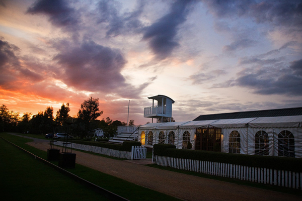 Ham Polo Club wedding venue at dusk