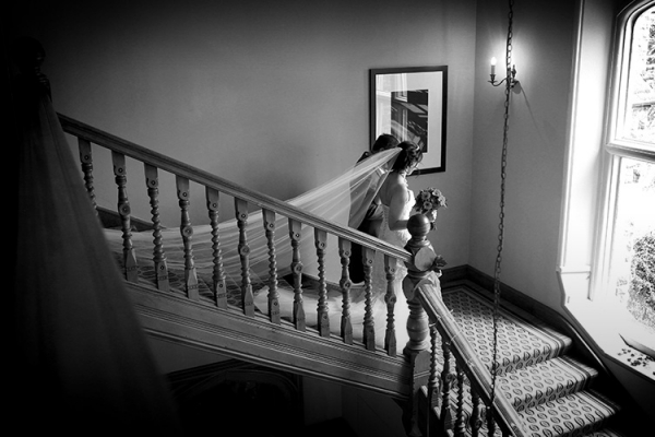 The grand staircase at Hartsfield Manor