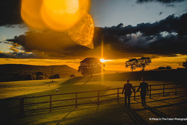 Sunset at Heaton House Farm | Wedding Venues Cheshire