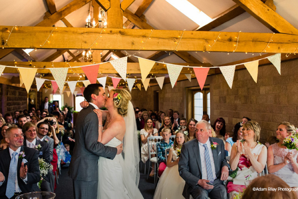 Wedding Ceremony at Heaton House - Barn Wedding Venue in Cheshire