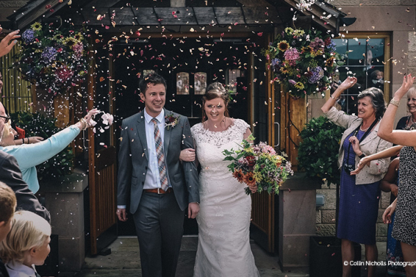 Just Married at Heaton House - Barn Wedding Venue in Cheshire