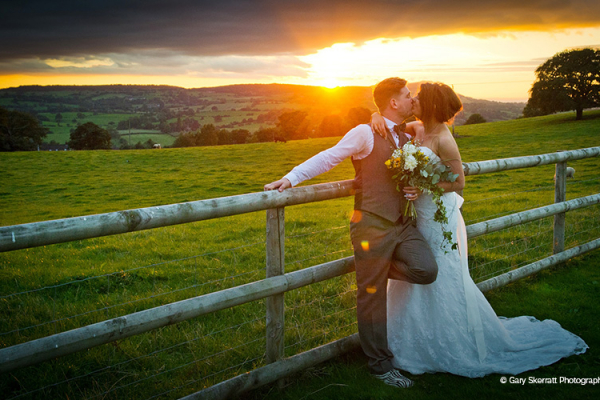 Bride and Groom at Heaton House - Barn Wedding Venue in Cheshire