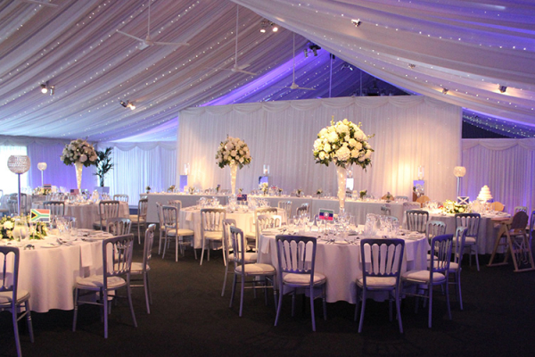 Wedding Breakfast at Heaton House - Barn Wedding Venue in Cheshire
