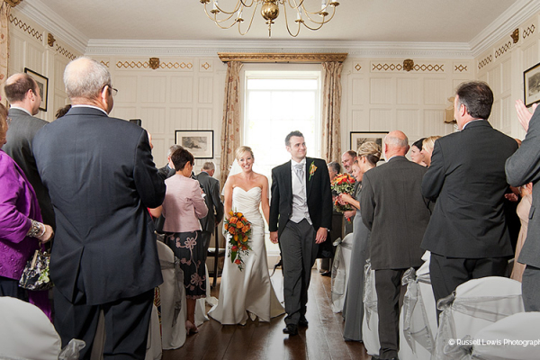 Just married at Homme House - Country House Wedding Venue in Herefordshire
