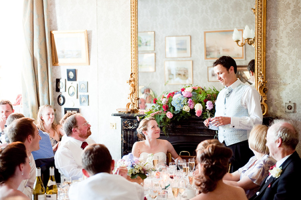 The Groom's speech at Homme House - Country House Wedding Venue in Herefordshire