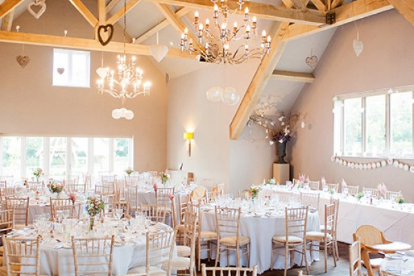 All Set For The Wedding Breakfast At Hyde Barn