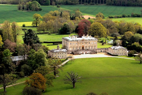 Aerial view of Kirtlington Park - Country House Wedding Venue in Oxfordshire