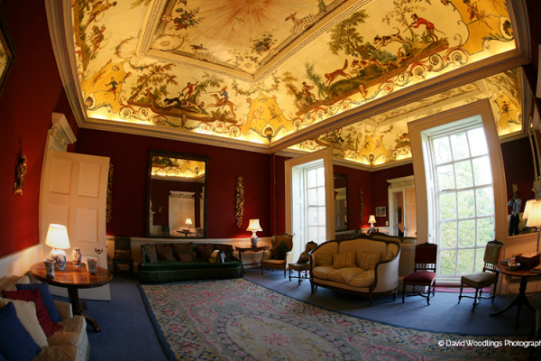 The delightful reception room at Kirtlington Park - Country House Wedding Venue in Oxfordshire