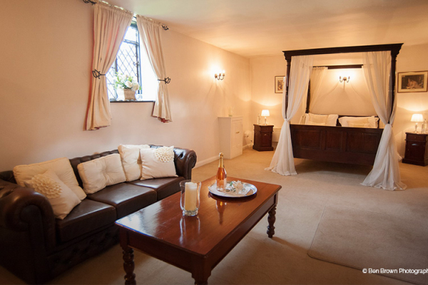 The sumptuous Granary Bridal Suite at Leez Priory - Country House Wedding Venue in Essex