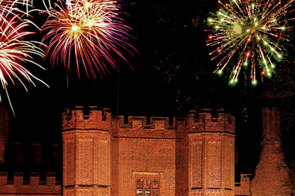 Fireworks at Leez Priory - Country House Wedding Venue in Essex
