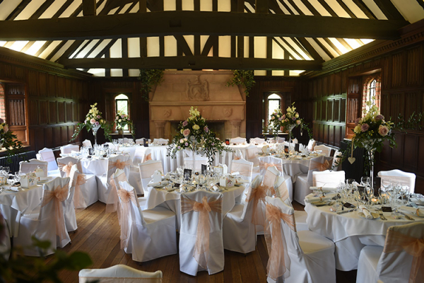 All set for a Wedding Breakfast at Leez Priory - Country House Wedding Venue in Essex