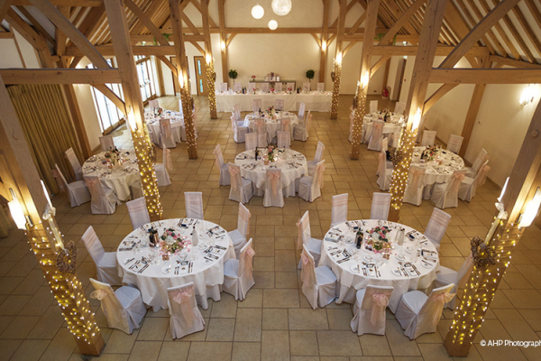 The Dining Barn with its neutral decor allows for many wedding colours and wedding themes.
