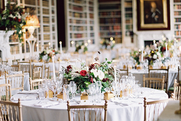 A happy bride inside St Giles House wedding venue in Dorset | CHWV