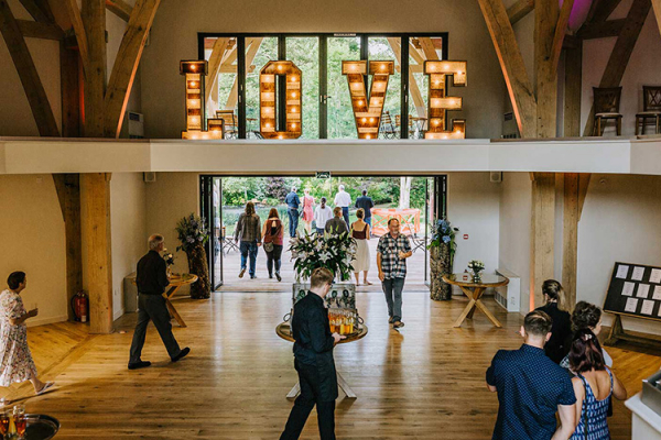 The atrium at The Mill Barns wedding venue in Shropshire | CHWV