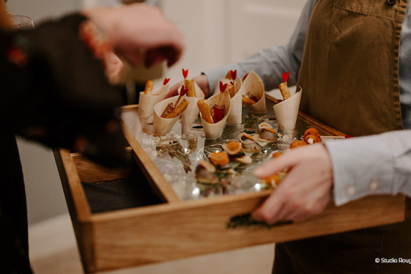 Canapes at The Pear Tree | Wedding Venues Wiltshire