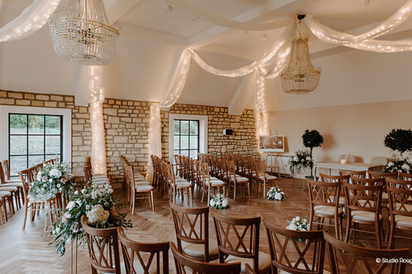 Ceremony Room at The Pear Tree | Wedding Venues Wiltshire