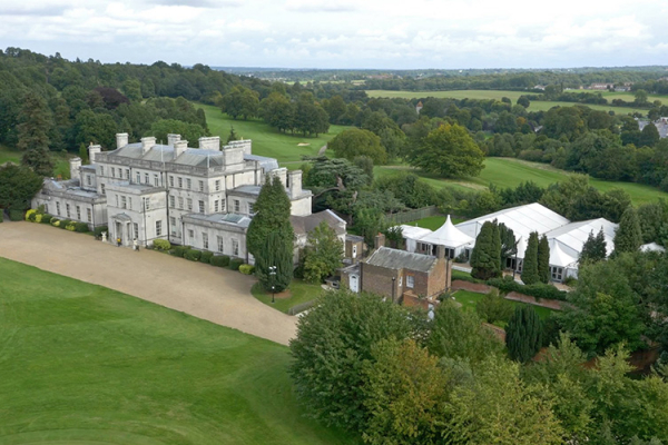 An aerial view Addington Palace and its grounds in Surrey | CHWV