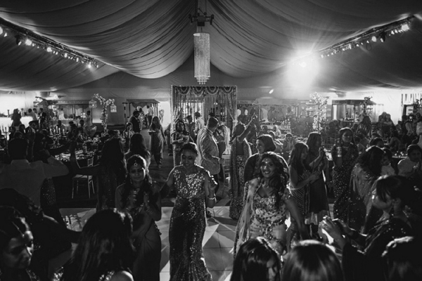 Dancing the night away in the marquee at Alrewas Hayes - Country Wedding Venue in Staffordshire