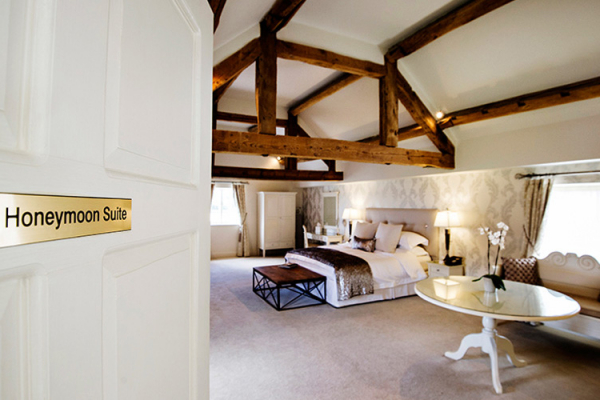 A guest bedroom at Alrewas Hayes in Staffordshire