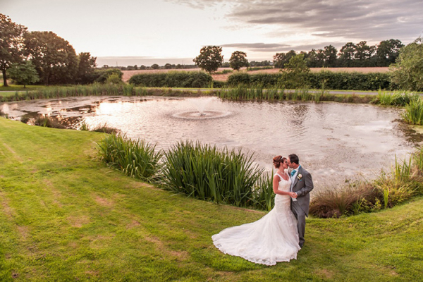 The lake at Alrewas Hayes - one of many photographic opportunities at this Staffordshire wedding venue