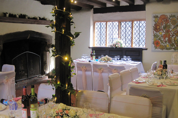 Set up for a wedding breakfast at Anne of Cleves House wedding venue in East Sussex | CHWV
