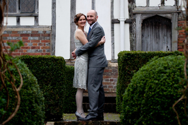 Taking a moment in the beautiful grounds at Anne of Cleves House wedding venue in East Sussex | CHWV