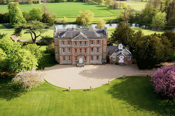 An aerial view of Ardington House wedding venue in Oxfordshire | CHWV
