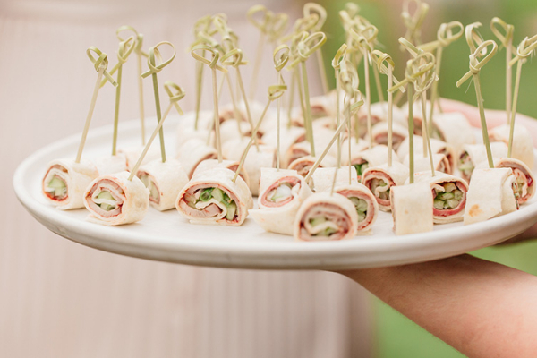 Canapes at Askham Hall wedding venue in Cumbria