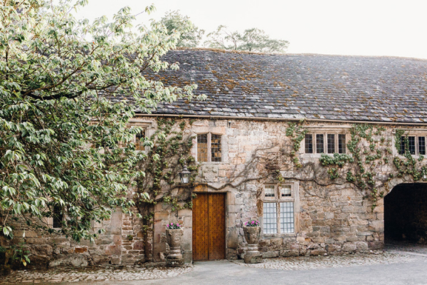 The courtyard at Askham Hall wedding venue in Cumbria | CHWV