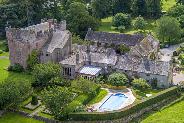 An aerial view of Askham Hall wedding venue in Cumbria | CHWV
