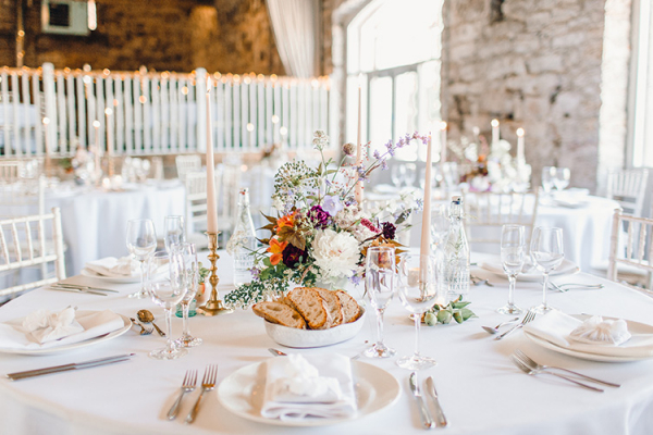 Beautiful table decorations at Askham Hall wedding venue in Cumbria | CHWV